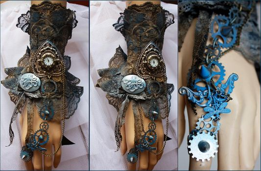 Octopus Patina Spiked Cuff by Pinkabsinthe