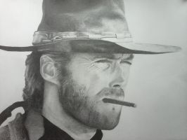 Clint Eastwood by adrt97