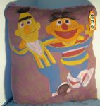 Giant Burt and Ernie BFF pillow by space-monkey