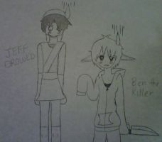 Ben the killer and JEFF DROWNED by sexyakatsuki