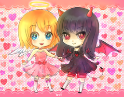 AT:  Angel and Demon by Neririn