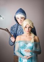 Jack Frost and Queen Elsa by LoicGarnier