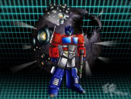 OPTIMUS PRIME with Cybertron by Av3r