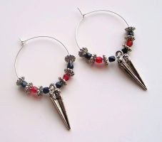 Hoop Earrings by BastsBoutique