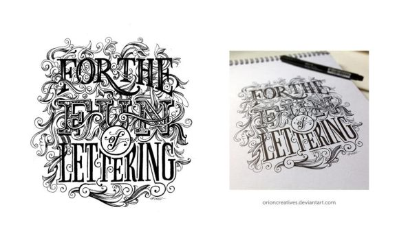 For the fun of letterng by orioncreatives