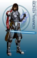 Star Wars Mass Effect Crossover Admiral Kenobi by rs2studios