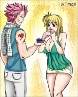 Gift (Day 1st) - Nalu week FT by Timagirl