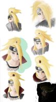Deidara Sketches by LunarMaddness