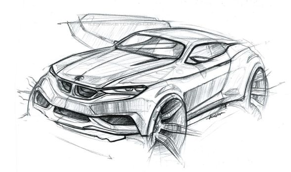 bmw coupe sketch by ecco666