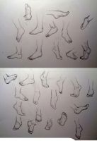 More feet practice by Mistling
