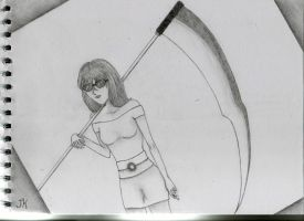 Woman with Scythe by InvisibleNinjaGirl