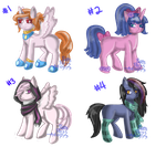 :OPEN: Pony Adopts with Accessories by PuppyPress-Adopts