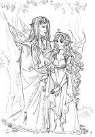 Elrond and Arwen by TatianaOnegina