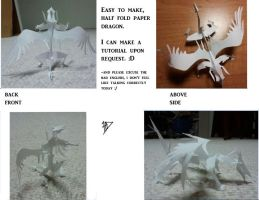 3D Paper Dragon by HeavensDawn