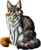 Wavepaw and Hazelstripe by Chaseya