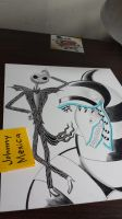 Jack Skellington with sandworm by JohnnyMexica
