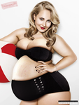 Juno Temple ~ Chubby with big gut (Request) by xmasterdavid