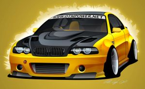 BMW e46 M3 by dazza-mate