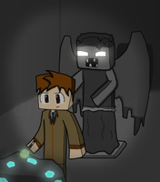 The 10th Doctor Minecraft'd by CrimnsonRed