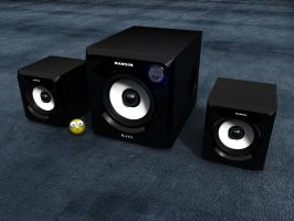 My NANSIN 2.1 Speakers by ShengDaFlashPRo