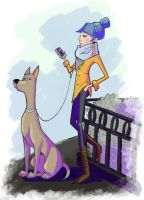 Girl And Dog by spuds-n-stuff