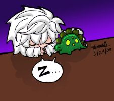 Dino Nap - Color by Threshie