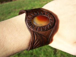 Phoenix Heart Leather Bracelet by Draikairion