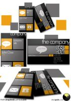 metro inspires business card template by EdonisKville