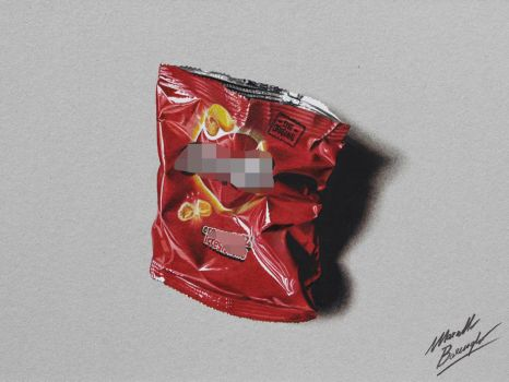 Cipster chips bag DRAWING by Marcello Barenghi by marcellobarenghi
