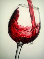 glass of wine by flak2013