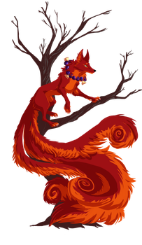 The Red Kitsune by EliaOwl