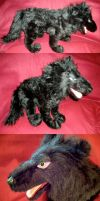 Large Darcia Wolf Plushie by WhittyKitty