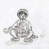 Monkey D. Luffy literally by Dragon-Storm