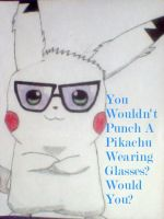 Z-Pikachu being a hipster 2 by Z-Pikachu