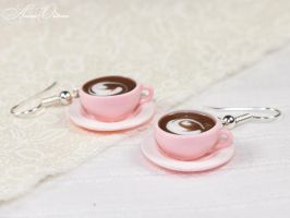 Pink cups by OrionaJewelry