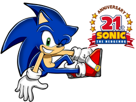 sonic the hedgehog 21st anniversary by FANTASY-WORKS-JMBD