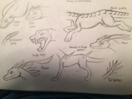 Mythical dog type: Extra traits (2 of 2) by Dinoboy134