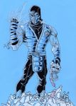 Mortal Kombat Ninjas - Sub-Zero - Have an Ice Day by GabRed-Hat
