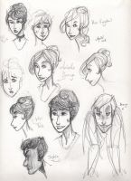 JSMN: character sketches 4 by Agatha-Macpie