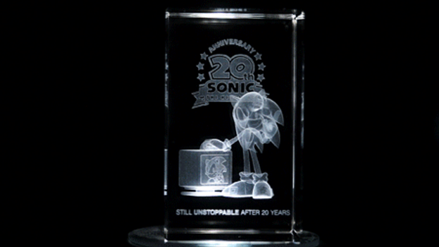 Sonic The Hedgehog: 20th Anniversary Crystal spin. by Cobra-Roll