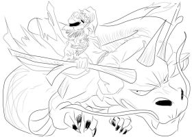 Dragon inked by scarecrowhassan