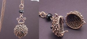 Woven Copper Ball by WiredElements