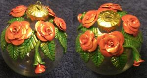 Clay rose ornament 1 by ladytech
