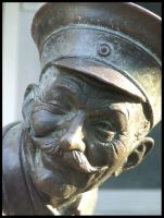 Smiling statue by Tricia-Danby