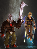 Ironwalker and Wisp by atryl