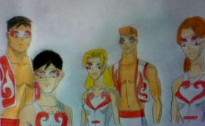 Young justice performance by Silvernightarrow