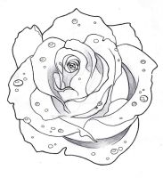 rose tattoo by Creheda