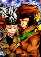 Gambit and Rogue in Love 2 by wheels9696