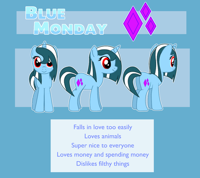 Blue Monday Character Sheet by judd-pony