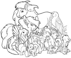 Lineart Collective by winterfalcon